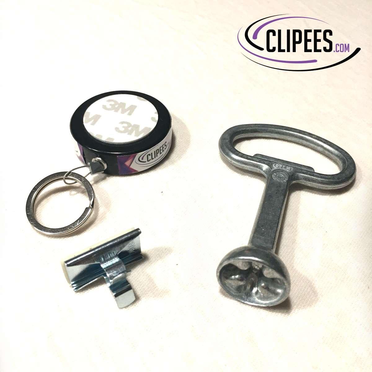 Rittal HD Enclosure lock key Clipees kit black