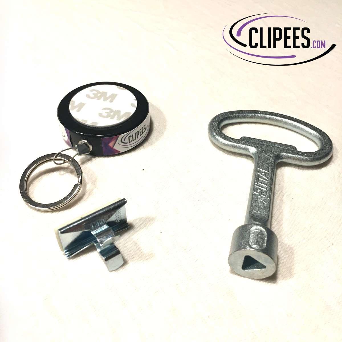 Rittal key 7 mm triangular Clipees kit black