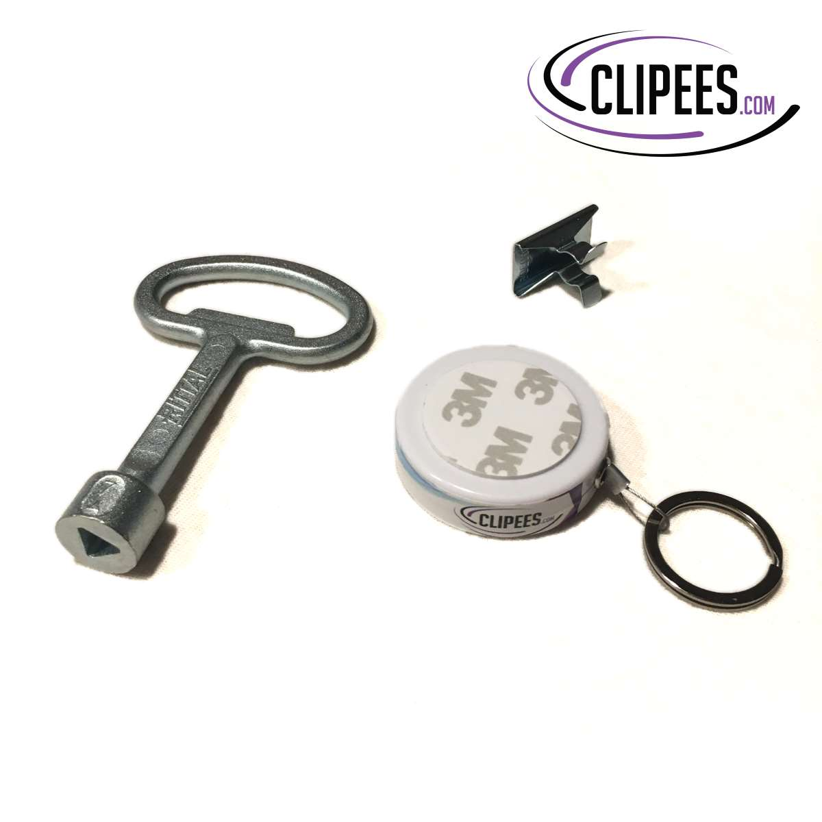 Rittal key 7 mm triangular Clipees kit white