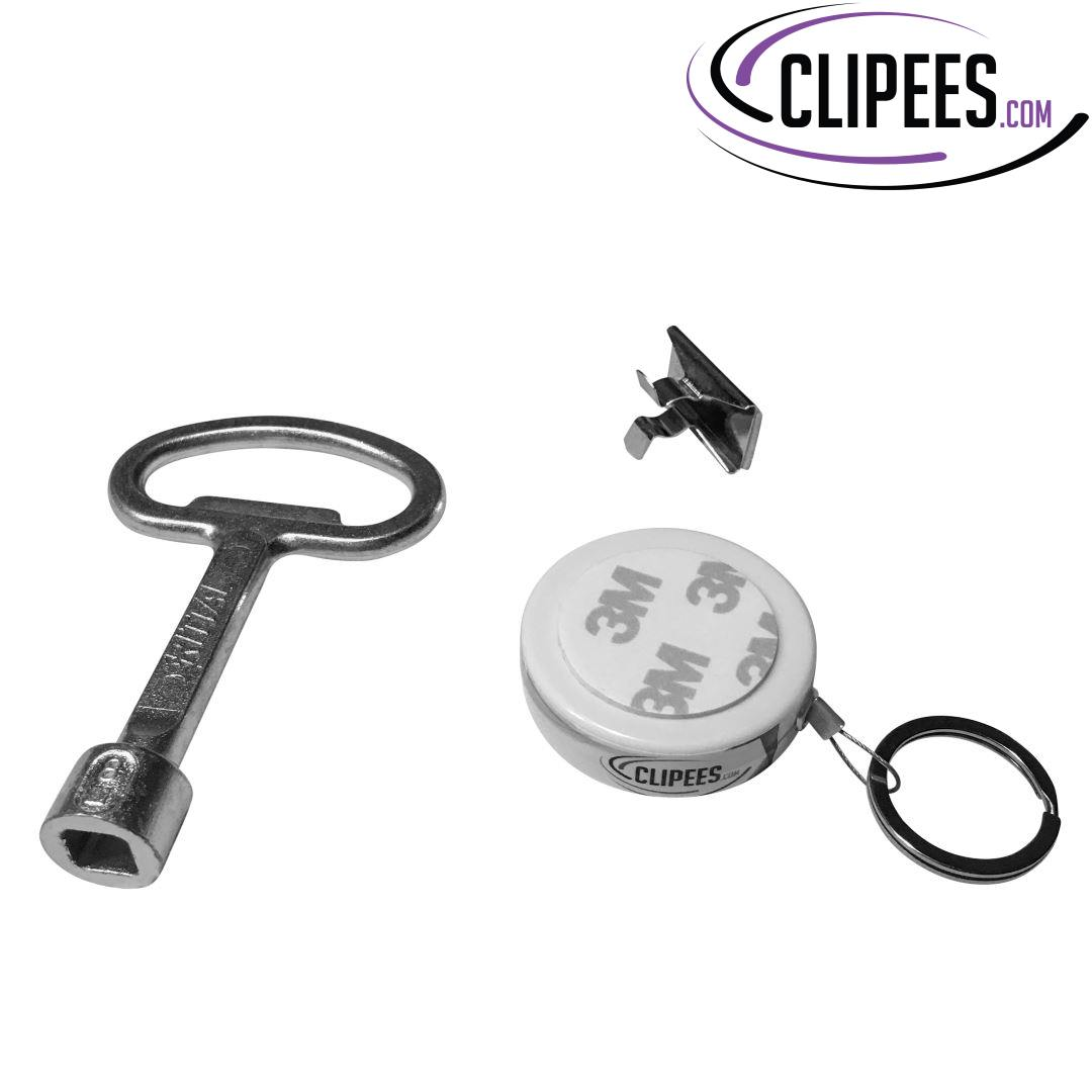 Rittal key 8 mm square Clipees kit white YoKey
